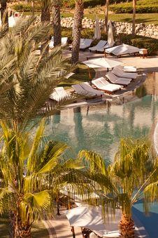 Swimming Pool In Cabo San Lucas, Mexico Stock Photos