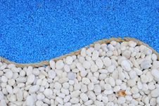 Free Rope Between White And Blue Stones Stock Photos - 18933603