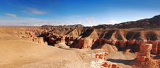 Free Panoramic View Of Charyn Canyon Royalty Free Stock Photos - 18933678