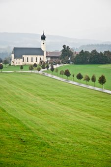 Free Landscape View On Church In Field, Austria Royalty Free Stock Images - 18934079