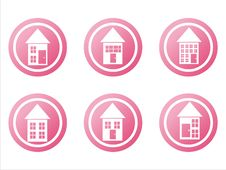 Free Pink Buildings Signs Stock Photography - 18934122