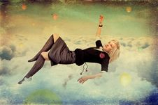 Free Beauty Young Wouman In A Sky Stock Photo - 18934800