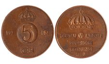 Free Antique Coin Of Sweden 1921 Year Stock Photography - 18935282
