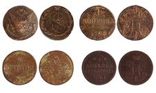Free Antique Coins Of Russia 1773-1841 Years Stock Images - 18935304