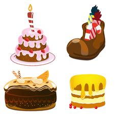 Free Cakes Set Royalty Free Stock Image - 18935556