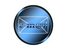 Blue Button With Sign Email Royalty Free Stock Photos