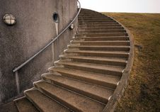 Free Spiraling Concrete Stairs Royalty Free Stock Photo - 18937935