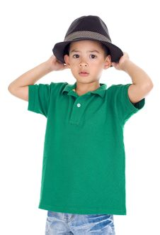 Free Portrait Of A Cute Little Boy Royalty Free Stock Photography - 18938397