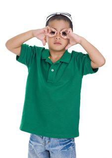 Free Boy Making Glasses Symbol Stock Photos - 18938723