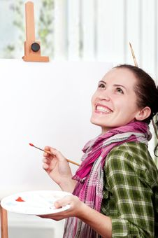 Free Female Painter Stock Image - 18938831