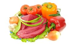 Free Beef And Vegetables Stock Image - 18939001