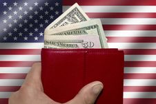 Wallet US Dollar Stock Photography