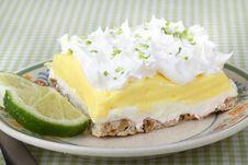 Lemon Lime Pudding Dessert Royalty Free Stock Photography