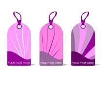 Free Pink Tags, Cdr Vector Stock Photo - 18939810