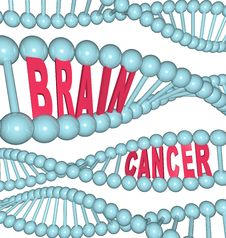 Free Brain Cancer Words In DNA Strand Royalty Free Stock Photos - 18939838