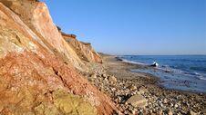 Cliffs At Aquinnah, Martha`s Vineyard Royalty Free Stock Photo