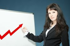 Free Businesswoman Drawing Graph Stock Image - 18940301