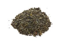 Green Tea Leaves Isolated Stock Image