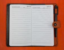 Brown Blank Note Book Royalty Free Stock Photo