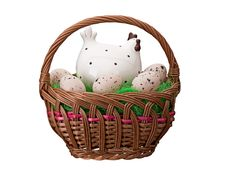Free Eggs In Easter Basket Stock Photos - 18940733