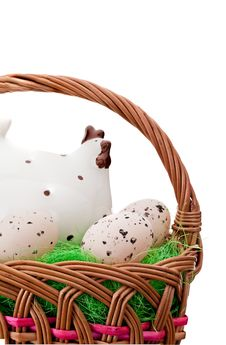 Free Eggs In Easter Basket Royalty Free Stock Photography - 18940737
