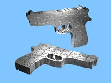 Free Guns - Puzzle - 3D Royalty Free Stock Image - 18940946