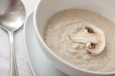 Bowl Of Mushroom Soup Royalty Free Stock Photography