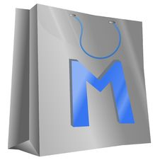 Mettalic Bag 3D Stock Images