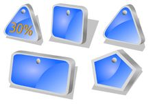 Blue Price Action Icons Royalty Free Stock Photos