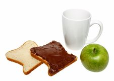 Free Bread With Chocolate,apple And Mug Stock Images - 18942824