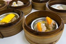Free Dimsum In Bamboo Container Stock Photos - 18944213