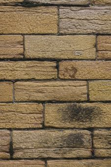 Old Brick Wall With Soot Royalty Free Stock Photos