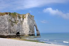 Cliff Of Etretat Stock Image