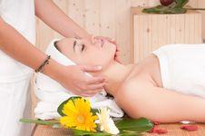 Beautiful Woman In Spa Center Having Massage Royalty Free Stock Photo