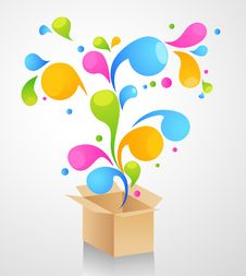 Free Gift Box Abstract Background Stock Image - 18946441