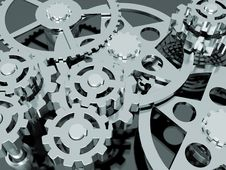 Free Mechanism Of Gears Royalty Free Stock Photography - 18947167