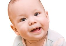 Free Bright Closeup Portrait Of Adorable Baby Stock Photography - 18947232