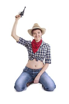 Free Cowgirl Royalty Free Stock Photos - 18947368