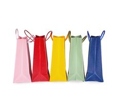 Free Assorted Multi-color Shopping Bags Stock Photography - 18947382