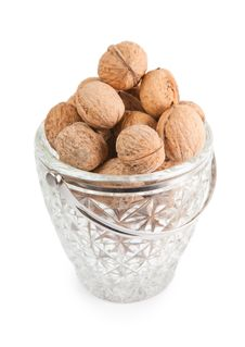 Free Walnuts In The Crystal Vase Stock Image - 18947511