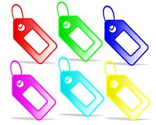 Free Colored Tags, Cdr Vector Royalty Free Stock Photos - 18947678