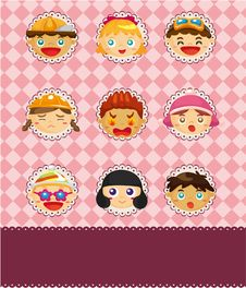 Free Cartoon Child Card Stock Photo - 18947720