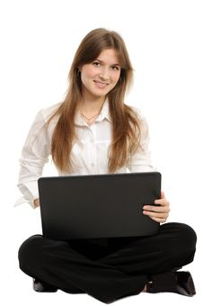 Free Woman With A Laptop Stock Photography - 18947732