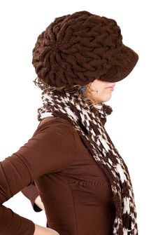 Girl In Winter Hat Stock Images