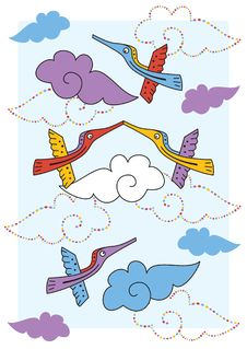 Free Design With Birds Royalty Free Stock Photos - 18948298