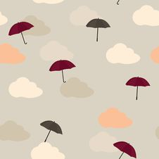 Free Seamless Pattern With Umbrellas Stock Image - 18948341