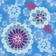 Free Blue Violet Flower Pattern Royalty Free Stock Photo - 18948615