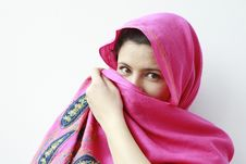 Free Arabian Woman Covering Her Face Royalty Free Stock Photo - 18949755