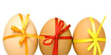 Free Easter Eggs, Isolated On White Royalty Free Stock Images - 18951009