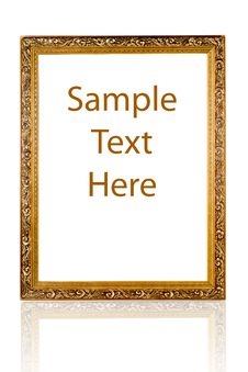 Free Gold Frame With A Decorative Pattern Royalty Free Stock Photos - 18951228